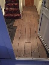 Tiles going down